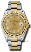 Rolex SS 18K Yellow Gold Model 116333CHDO