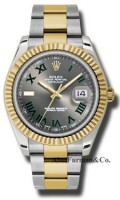 Rolex SS 18K Yellow Gold Model 116333GRO