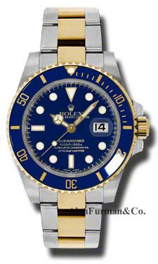 Rolex SS 18K Yellow Gold Model 116613LB
