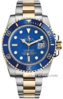 Rolex Submariner Steel and Gold Blue Dial Ceramic Blue