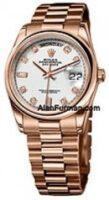 Rolex 18K Rose Gold Model 118205IDP