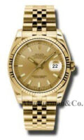 Rolex 18K Yellow Gold Model 116238CHSJ