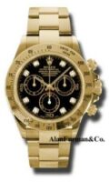 Rolex 18K Yellow Gold Model 116528BKD