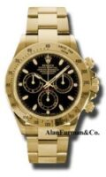 Rolex 18K Yellow Gold Model 116528BKS1