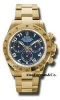 Rolex 18K Yellow Gold Model 116528BLA