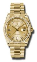 Rolex 18K Yellow Gold Model 118238CHD Custom