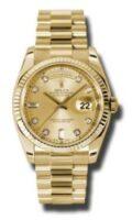 Rolex 18K Yellow Gold Model 118238CHDP Custom