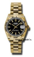Rolex 18K Yellow Gold Model 178278BKIP