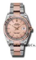 Rolex SS 18K Rose Gold Model 116231CHSO
