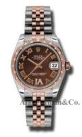 Rolex SS 18K Rose Gold Model 178341CHODRJ