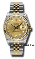 Rolex SS 18K Yellow Gold Model 116233CHDJ