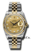 Rolex SS 18K Yellow Gold Model 116233CHDJ Custom