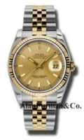 Rolex SS 18K Yellow Gold Model 116233CHSJ
