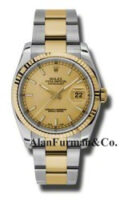 Rolex SS 18K Yellow Gold Model 116233CHSO