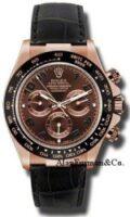 Rolex 18K Rose Gold Model 116515LNBR