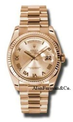 Rolex 18K Rose Gold Model 118235CHRP