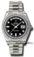 Rolex 18K White Gold Model 218239BKDP