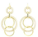 Diamond Circle Earrings 18K Yellow Gold .76cttw Model NCE1355