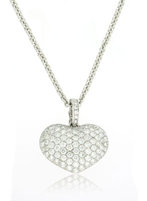 Diamond Heart Necklace 18K White Gold 2.69cttw Model NCP2763, NCP4125