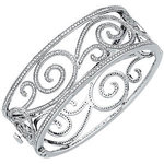 Diamond Bangle 14K White Gold 5.125cttw Model 65486