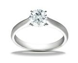 Diamond Ring Platinum Solitaire Setting Model JFR1869