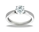 Diamond Ring Platinum Solitaire Setting Model JFR2004