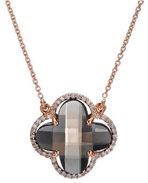 Diamond Smokey Quartz Necklace 18K Rose Gold 6.96cttw Model NCP4474