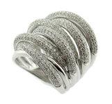 Diamond Ring 18K White Gold 3.22cttw Model NCR1516