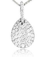 Diamond Pendant 18K White Gold .87cttw Model NCP4634