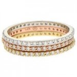 Diamond Jewelry E351 Tric Color Rings