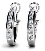 Diamond Earrings 14K White Gold 1.41cttw Model GSE801