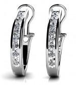Diamond Earrings 14K White Gold 1.41cttw Model GSE801