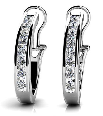 Diamond Earrings 14K WG 1.40cttw Model AFC-E14
