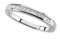 Diamond Anniversary Ring 14K White Gold .25cttw Model 62177