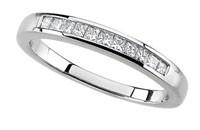 Diamond Anniversary Ring 14K White Gold .25cttw Model 62177