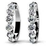 Diamond Earrings 14K White Gold 1.47cttw Model SE47