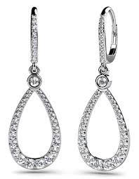 Diamond Earrings 14K White Gold 1.93cttw Model SE62-A
