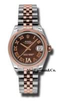 Rolex SS 18K Rose Gold Model 178241CHDRJ
