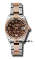 Rolex SS 18K Rose Gold Model 178241CHDRO