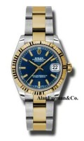 Rolex SS 18K Yellow Gold Model 178273BLIO