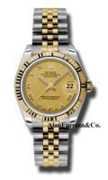 Rolex SS 18K Yellow Gold Model 178273CHRJ