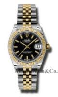 Rolex SS 18K Yellow Gold Model 178313BKIJ