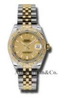 Rolex SS 18K Yellow Gold Model 178313CHIJ
