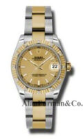 Rolex SS 18K Yellow Gold Model 178313CHIO