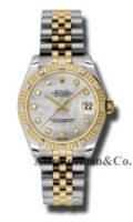 Rolex SS 18K Yellow Gold Model 178313MDJ