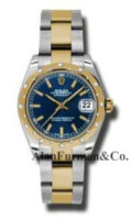 Rolex SS 18K Yellow Gold Model 178343BLIO