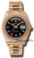 Rolex 18K Rose Gold Model 218235BKIP