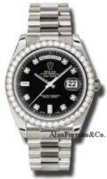 Rolex 18K White Gold Model 218349BKDP