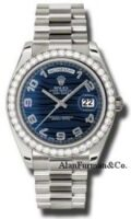 Rolex 18K White Gold Model 218349BLWAP
