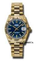 Rolex 18K Yellow Gold Model 178278BLIP